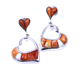Ben Nighthorse-Heart Earrings-Sorrel Sky Gallery-Jewelry