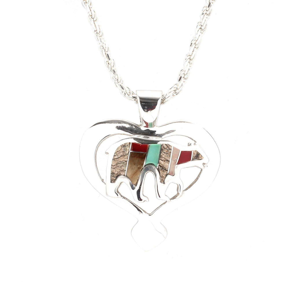 Ben Nighthorse-Heart Of A Bear Pendant-Sorrel Sky Gallery-Jewelry