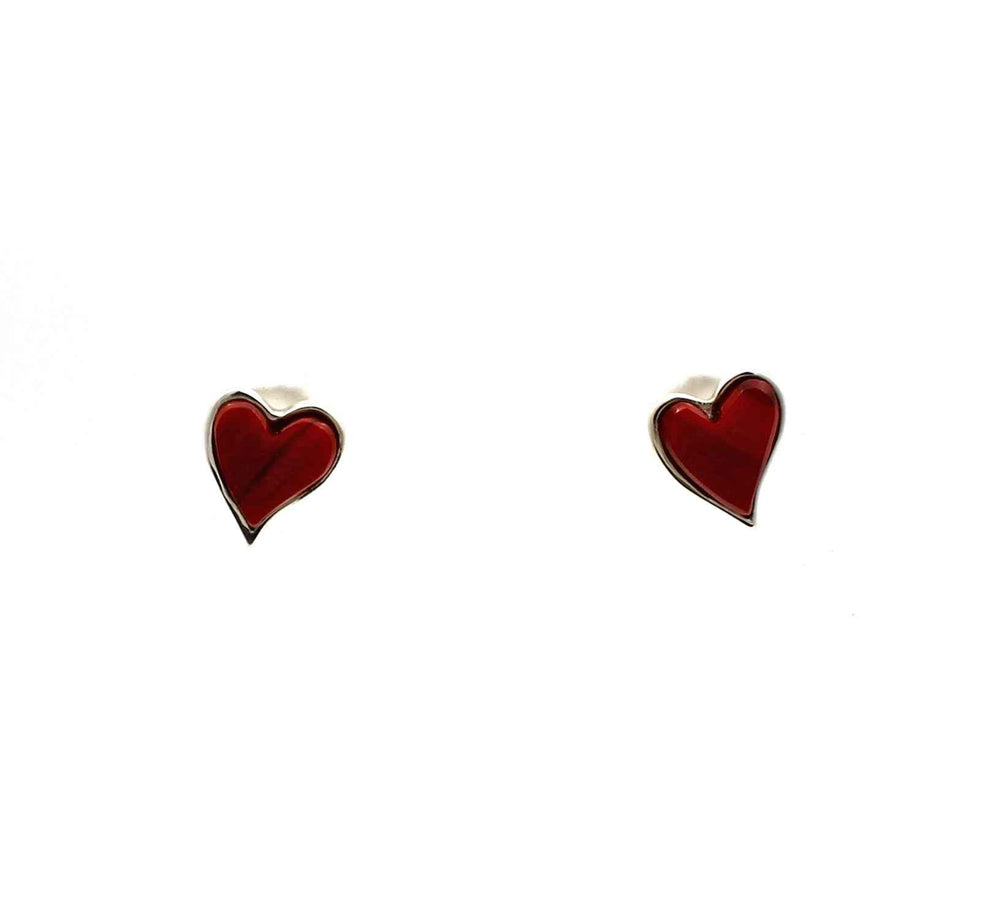 Heart Post Earrings-Jewelry-Ben Nighthorse-Sorrel Sky Gallery