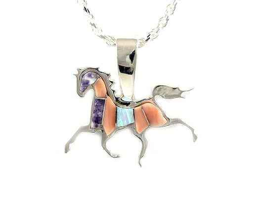 Ben Nighthorse-High Stepping Horse Pendant-Sorrel Sky Gallery-Jewelry