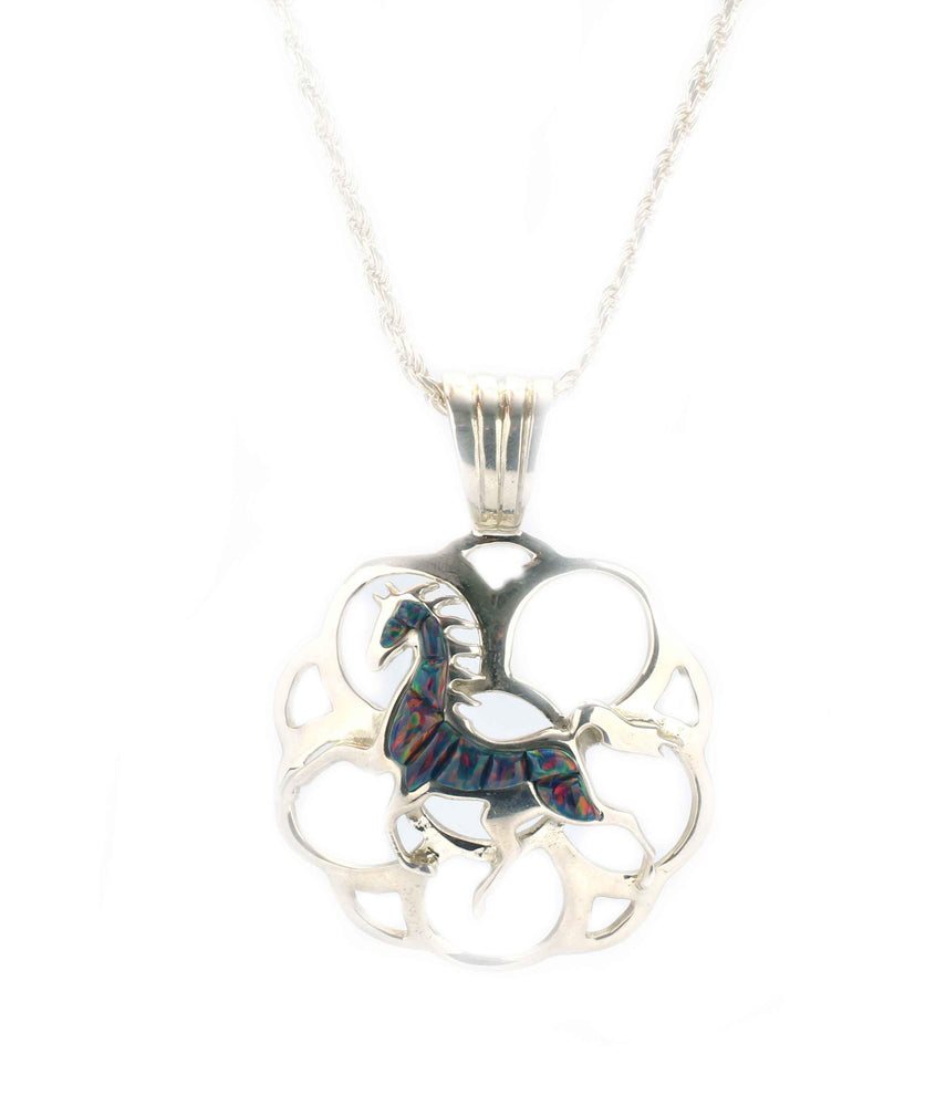 Ben Nighthorse-Horse In The Clouds Pendant-Sorrel Sky Gallery-Jewelry