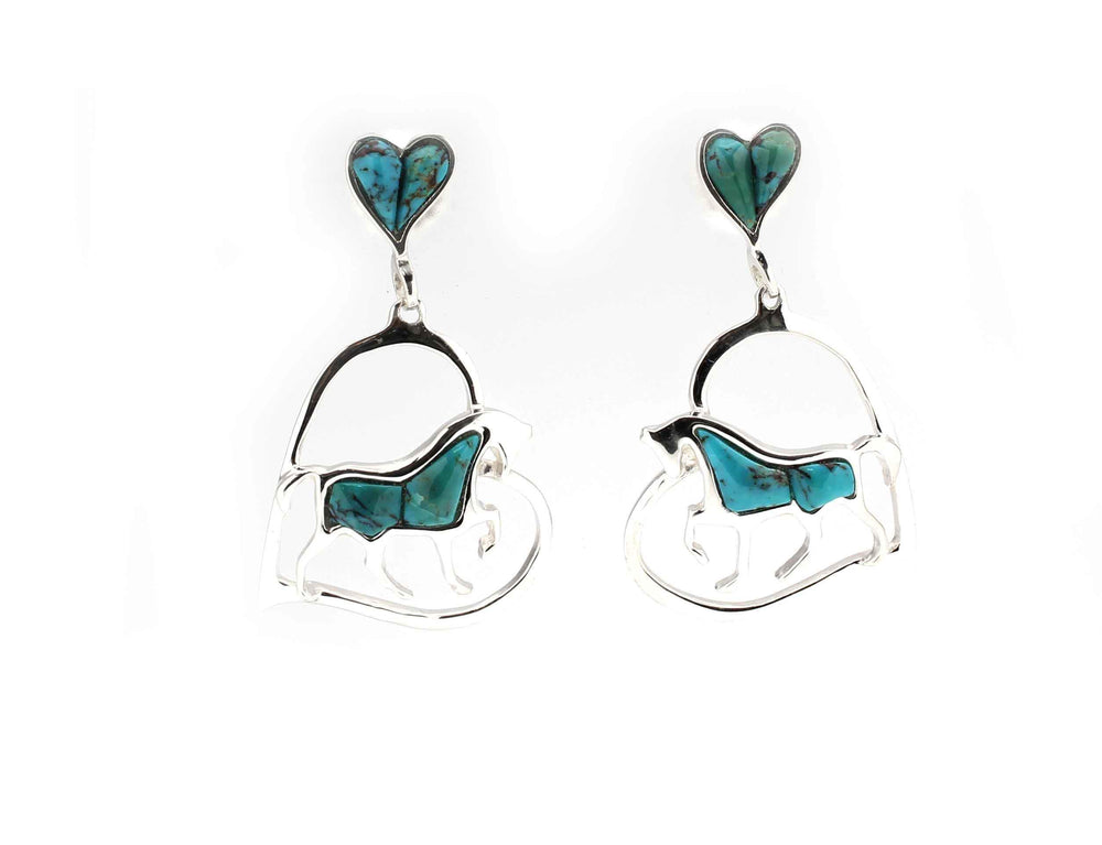 Horse Pride Heart Earrings