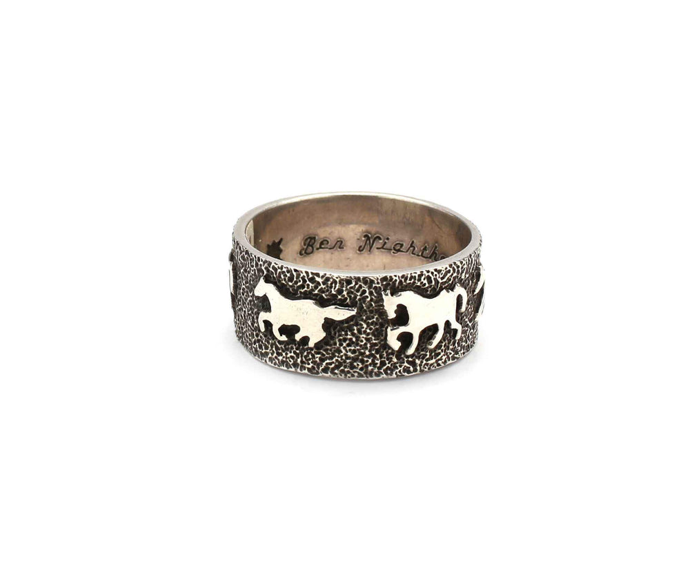 Ben Nighthorse-Horse Wedding Band-Sorrel Sky Gallery-Jewelry