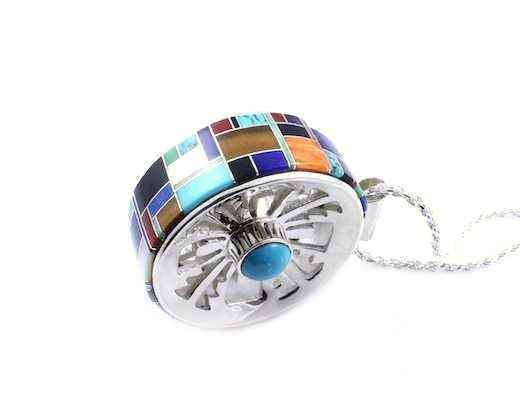 Ben Nighthorse-Indian Pottery Wheel Pendant-Sorrel Sky Gallery-Jewelry