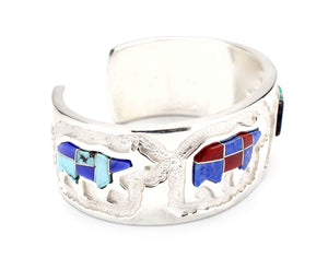 Ben Nighthorse-Inlaid Bears Bracelet-Sorrel Sky Gallery-Jewelry