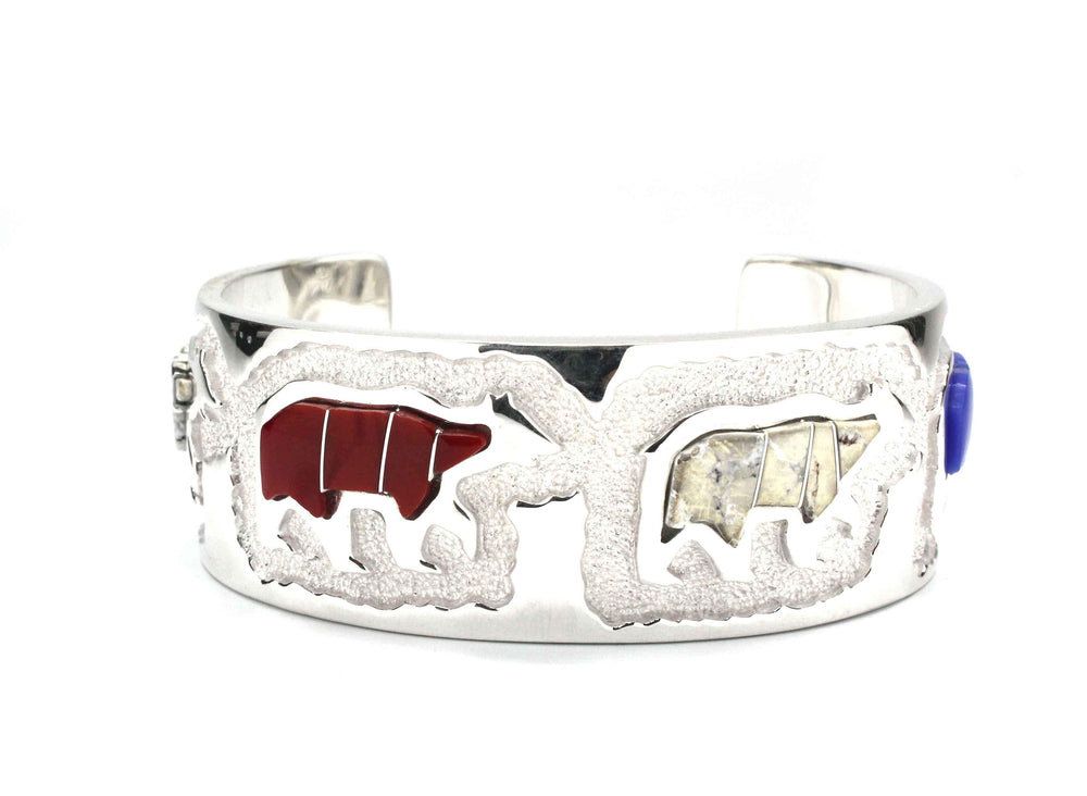 Inlaid Bears Bracelet