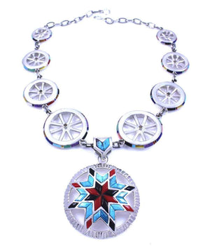 Ben Nighthorse-Lakota Sioux Star Necklace-Sorrel Sky Gallery-Jewelry