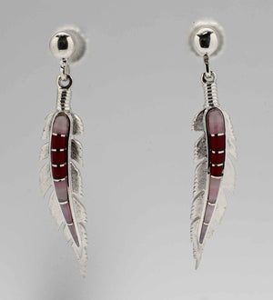 Ben Nighthorse-Large Feather Earrings-Sorrel Sky Gallery-Jewelry