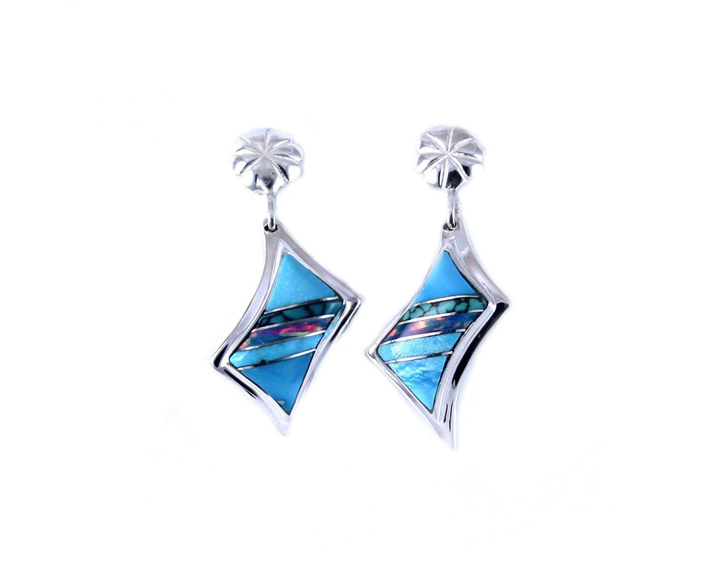 Ben Nighthorse-Lightning Earrings-Sorrel Sky Gallery-Jewelry