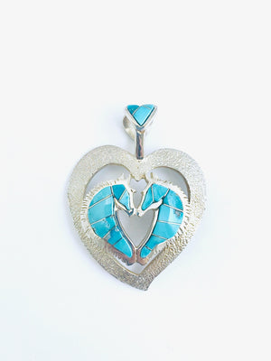 Ben Nighthorse-Love Horses Pendant-Sorrel Sky Gallery-Jewelry