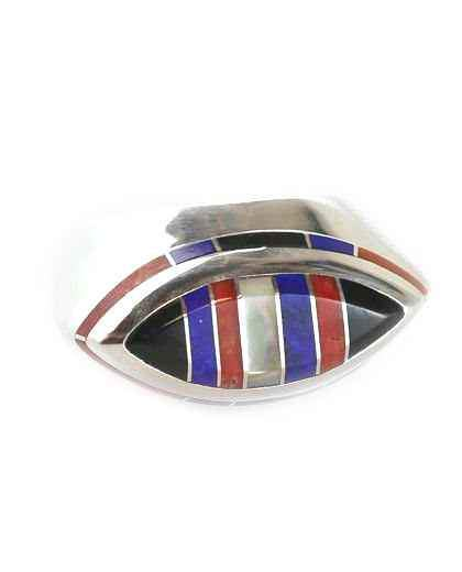 Ben Nighthorse-Marquise Edge Inlay Ring-Sorrel Sky Gallery-Jewelry