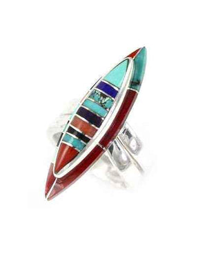Ben Nighthorse-Marquise Wedding Band-Sorrel Sky Gallery-Jewelry