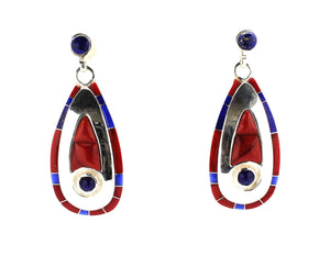 Ben Nighthorse-Moccasin Track Earrings-Sorrel Sky Gallery-Jewelry