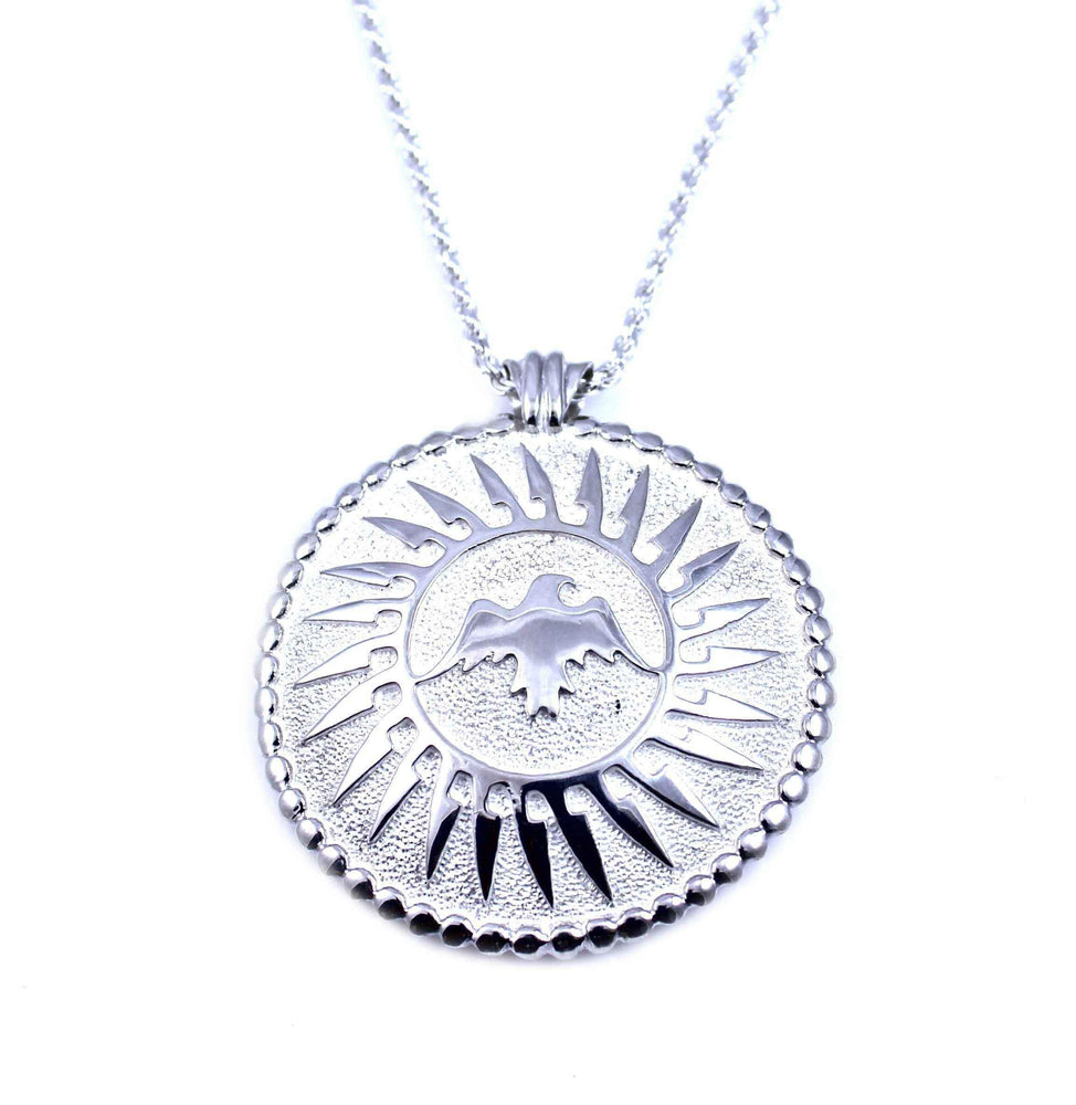 Ben Nighthorse-Moon Eagle Pendant-Sorrel Sky Gallery-Jewelry