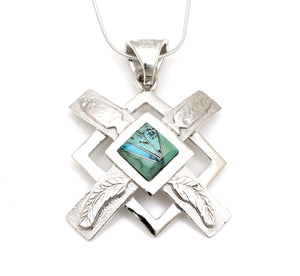 Morning Star Feathers and Arrows Pendant-Jewelry-Ben Nighthorse-Sorrel Sky Gallery