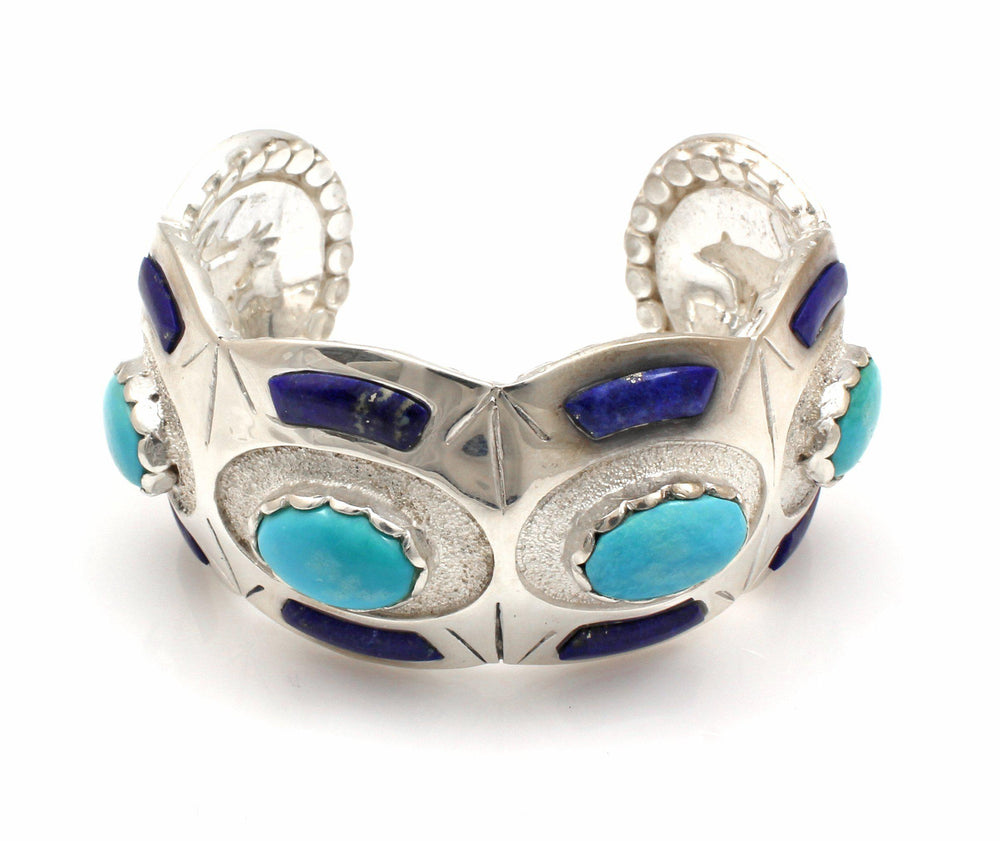 Oval and Scallops Cuff Bracelet