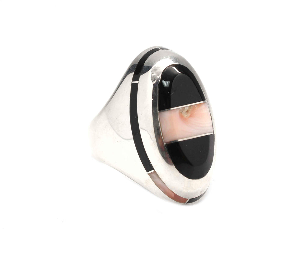 Oval Edge Inlay Ring