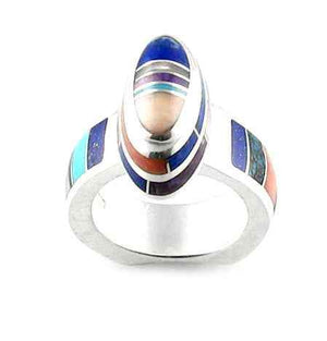 Ben Nighthorse-Oval Pyramid Ring-Sorrel Sky Gallery-Jewelry