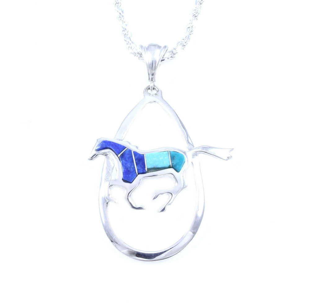 Oval Running Horse Pendant
