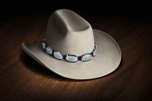 Ben Nighthorse-Oval with Side Inlay/Center Stone Hatband-Sorrel Sky Gallery-Jewelry