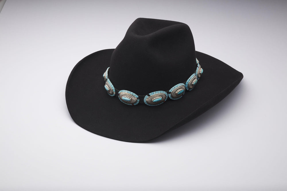 Oval with Side Inlay/Center Stone Hatband