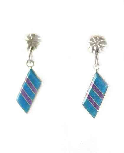 Parallelogram Inlay Earrings