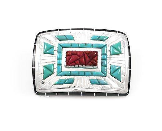 Rectangle Basket/Horses Buckle