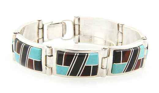 Ben Nighthorse-Rectangle Link Bracelet-Sorrel Sky Gallery-Jewelry