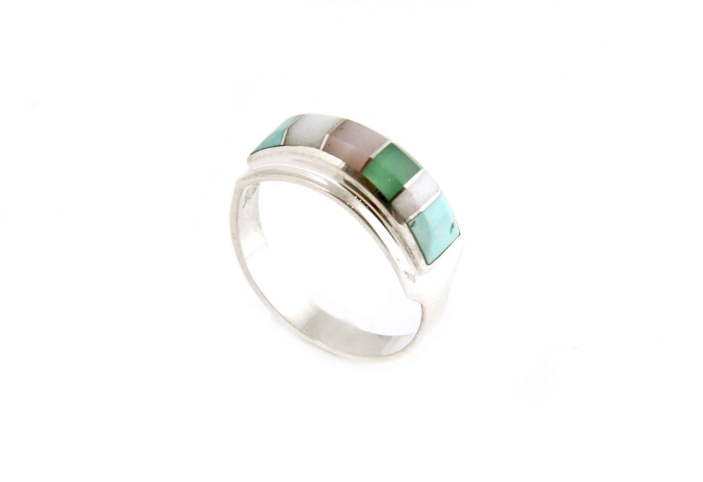 Ben Nighthorse-Rectangular Band II Ring-Sorrel Sky Gallery-Jewelry