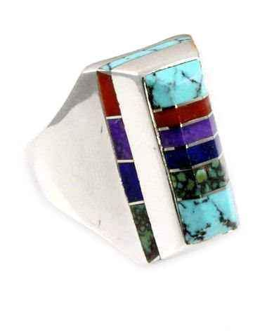 Rectangular Edge Inlay Ring