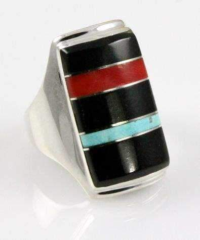 Rectangular Top Inlay Ring
