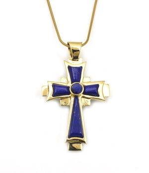 Reversible Gold Coptic Cross Pendant-Jewelry-Ben Nighthorse-Sorrel Sky Gallery