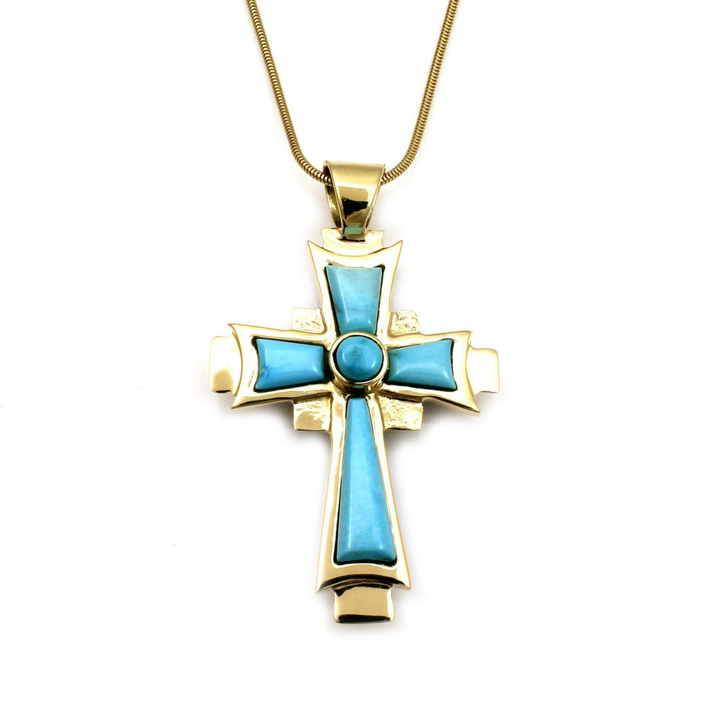 Reversible Gold Coptic Cross Pendant