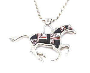 Ben Nighthorse-Reversible Running Horse Pendant-Sorrel Sky Gallery-Jewelry
