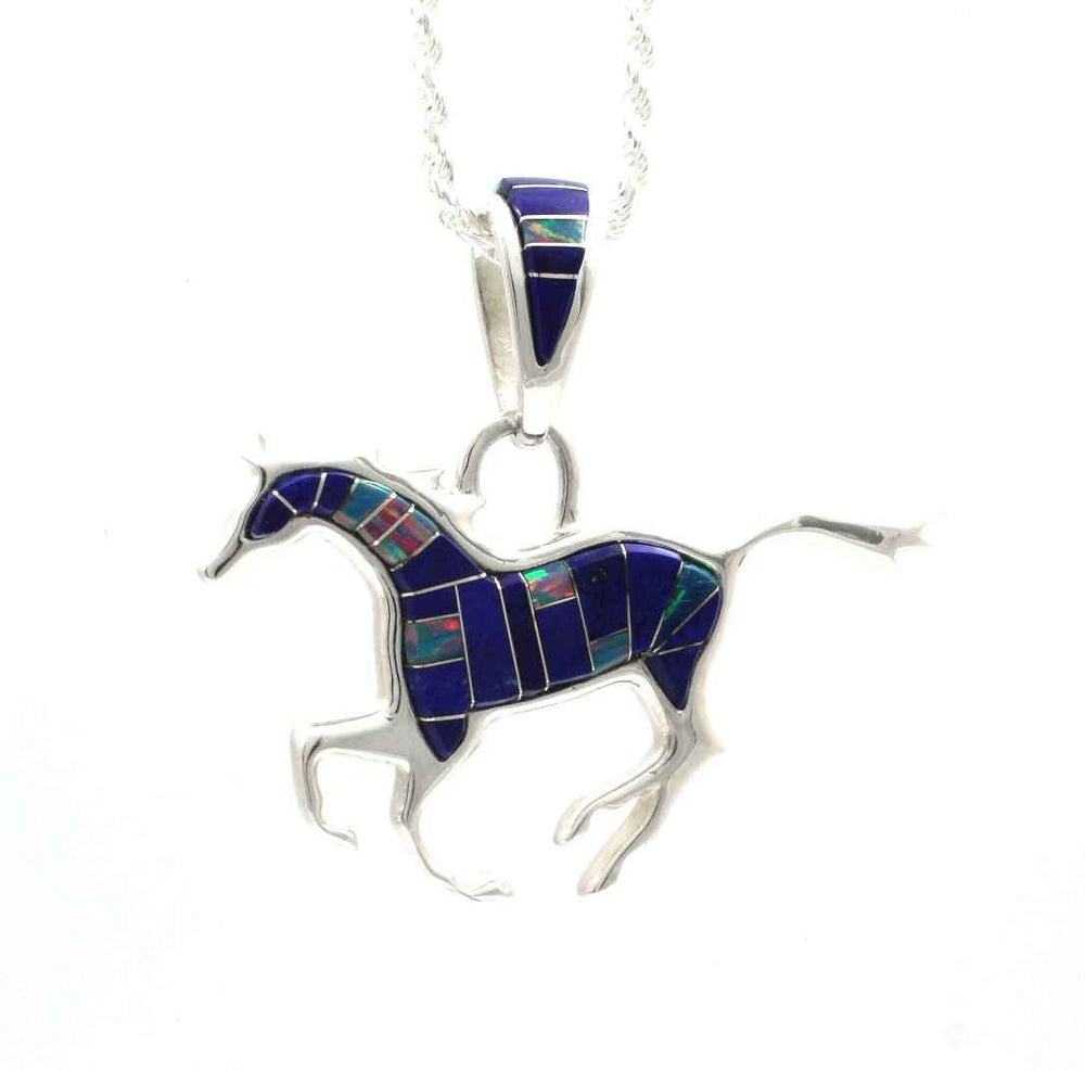 Reversible Running Horse Pendant-Jewelry-Ben Nighthorse-Sorrel Sky Gallery