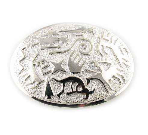 Rock Art Oval Buckle