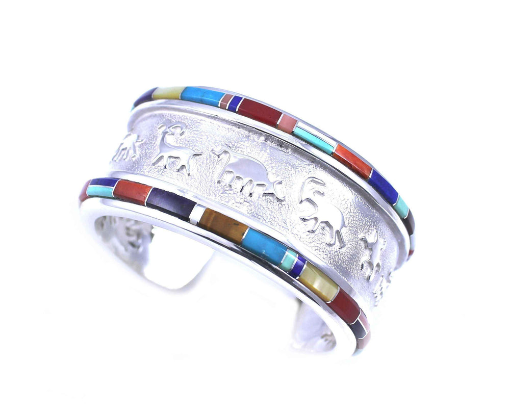 Ben Nighthorse-Rock Art Two Ridge Bracelet-Sorrel Sky Gallery-Jewelry