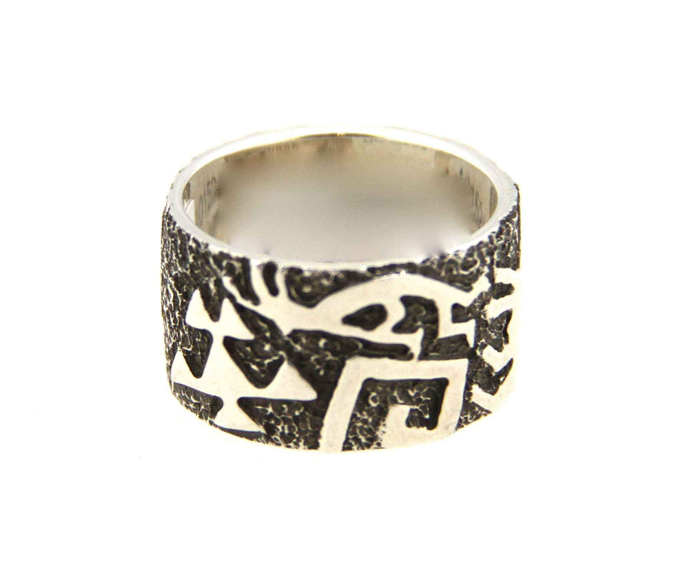 Rock Art Wedding Band
