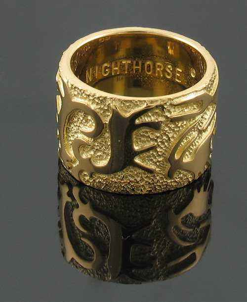 Ben Nighthorse-Rock Art Wedding Band-Sorrel Sky Gallery-Jewelry