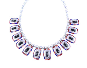 Ben Nighthorse-Rope Edge Rectangular Necklace-Sorrel Sky Gallery-Jewelry