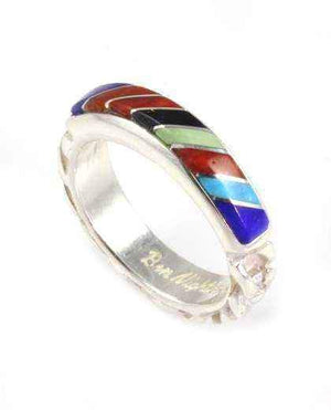 Ben Nighthorse-Roped Inlay Wedding Band-Sorrel Sky Gallery-Jewelry
