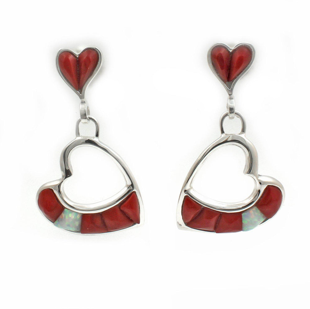 Rosarita Heart Earrings-Jewelry-Ben Nighthorse-Sorrel Sky Gallery
