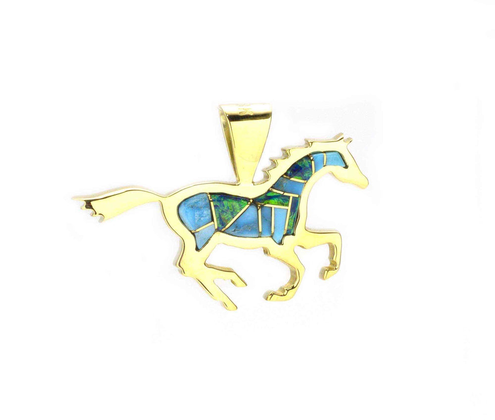 Ben Nighthorse-Sorrel Sky Gallery-Jewelry-Running Horse Pendant