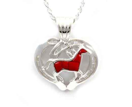 Running Horse Shoes Pendant