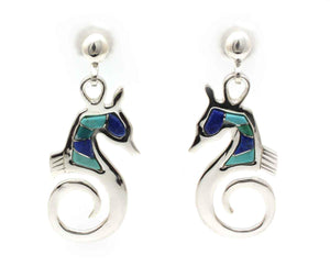 Sea Ponies Earrings-Jewelry-Ben Nighthorse-Sorrel Sky Gallery