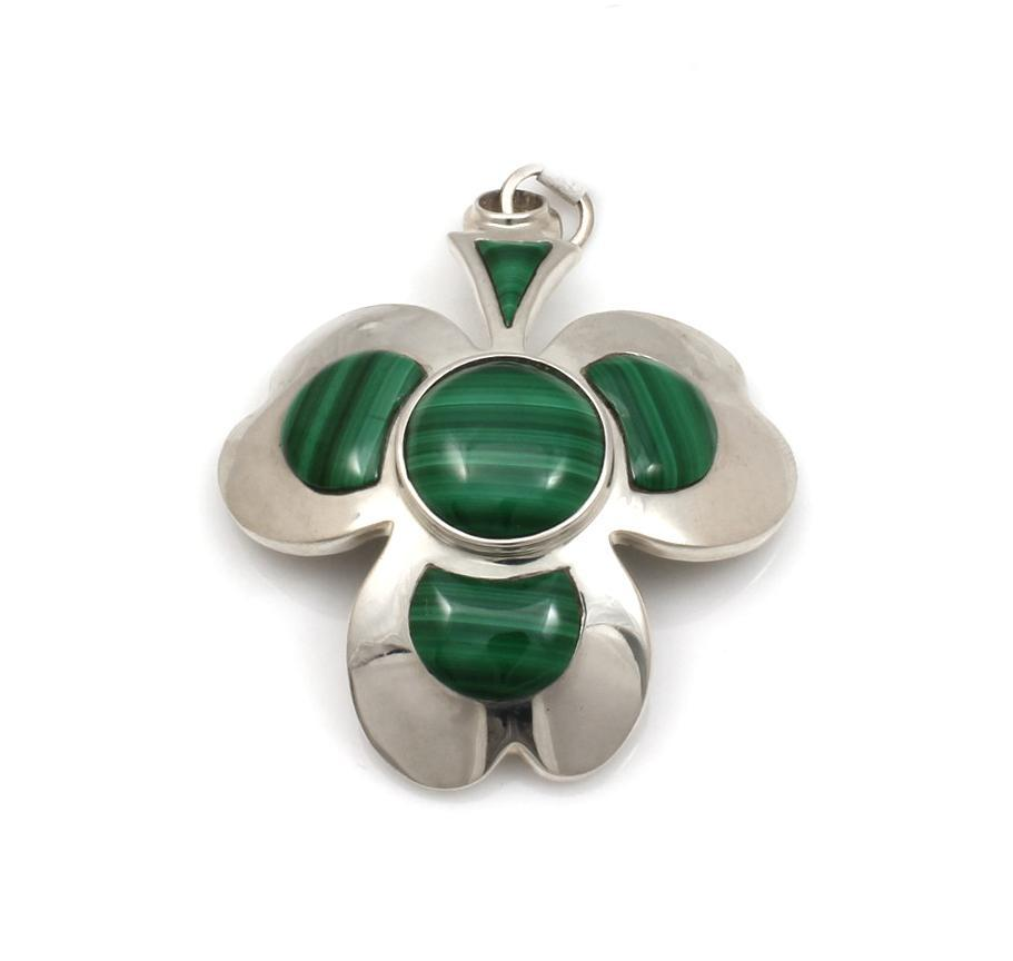 Ben Nighthorse-Shamrock Pendant-Sorrel Sky Gallery-Jewelry