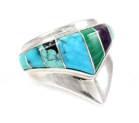 Ben Nighthorse-Single V Ring-Sorrel Sky Gallery-Jewelry