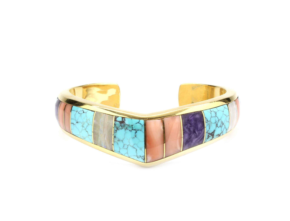 "Ben Nighthorse-Single ""V"" Top Inlay Bracelet-Sorrel Sky Gallery-Jewelry"