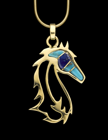 Small Horses In The Wind Pendant