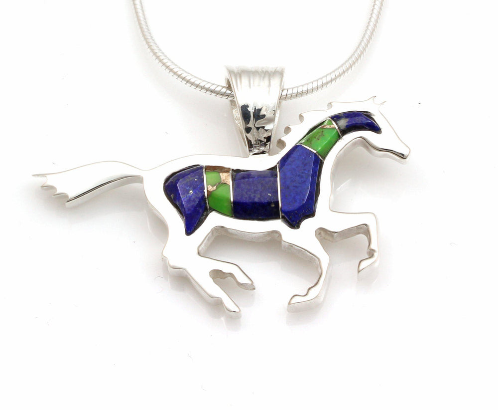 Ben Nighthorse-Small Running Horse Pendant-Sorrel Sky Gallery-Jewelry